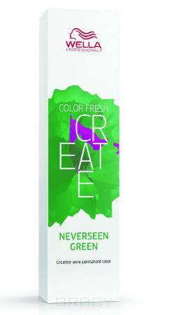Купить Wella, Оттеночная краска для ярких акцентов Color Fresh Create, 60 мл (13 оттенков) Тропический зеленый NEVERSEEN GREEN