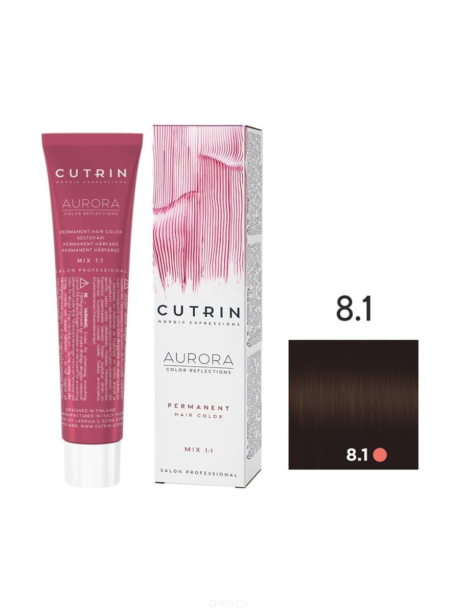 Купить Cutrin, Кутрин краска для волос Aurora Аврора (SCC-Reflection) (палитра 97 оттенков), 60 мл 8.1 Светлый пепельный блондин