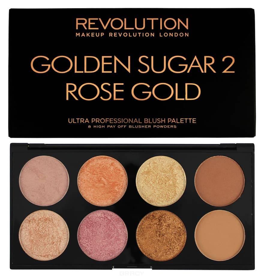 MakeUp Revolution, Палетка румян Ultra Blush Palette Golden Sugar 2 Rose Gold, 13 гр
