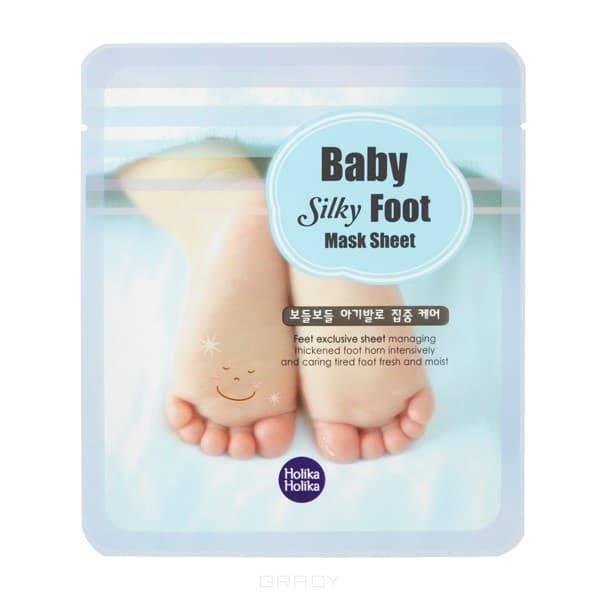 Holika Holika, Маска для ног смягчающая Baby Silky Foot Mask Sheet, 18 мл*2Средства для тела, рук и ног<br><br>