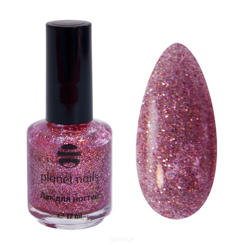 Planet Nails, Глиттер лак для ногтей, 17 мл (21 оттенок) 744