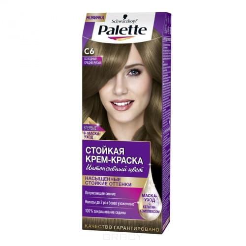 Schwarzkopf Professional, Краска для волос Palette Icc, 50 мл (40 оттенков) C6 Холодный средне-русый  - Купить