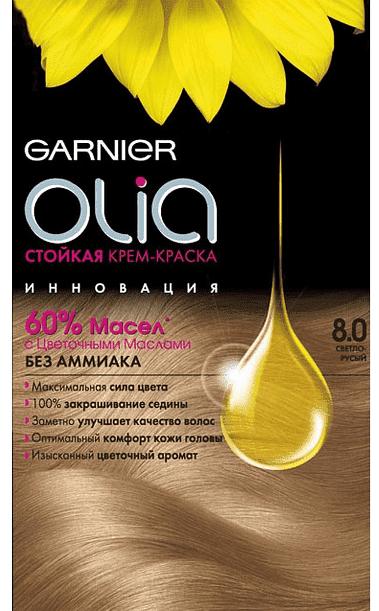 Garnier, Краска для волос Olia, 160 мл (24 оттенка) 8.0 Светло-русый garnier краска для волос olia 160 мл 24 оттенка 8 31 светло русый кремовый 160 мл