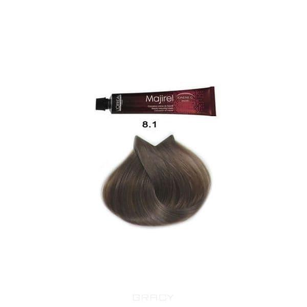 LOreal Professionnel, Крем-краска Мажирель Majirel, 50 мл (88 оттенков) 8.1 светлый блондин пепельныйОкрашивание: Majirel, Luo Color, Cool Cover, Dia Light, Dia Richesse, INOA и др.<br><br>