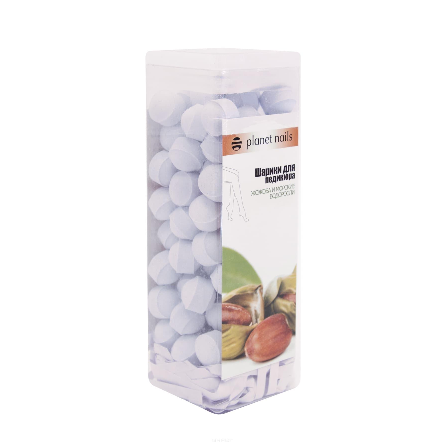 Planet Nails, Шарики для педикюра Жожоба и водоросли, 250 г