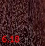 Купить Kaaral, Крем-краска для волос Baco Permament Haircolor, 100 мл (106 оттенков) 6.18 темный блондин пепельно-коричневый