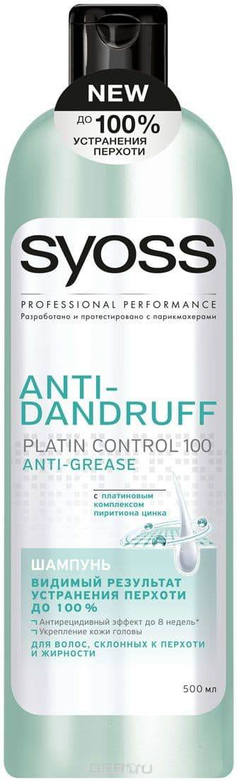Syoss, Шампунь для волос склонных к перхоти и жирности Anti-Grease Anti-Dandruff, 500 млУход за волосами Syoss<br><br>