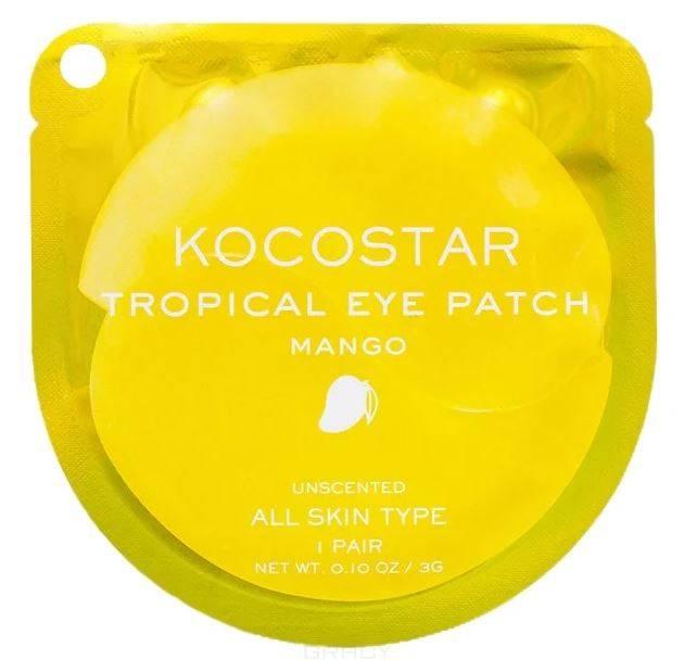 Купить Kocostar, Гидрогелевые патчи для глаз Тропические фрукты Манго Tropical Eye Patch Mango, 60 патчей/30 пар, 180 г