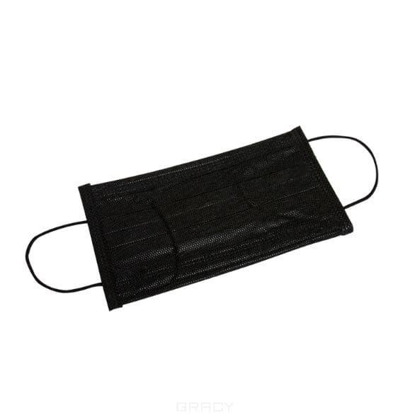 Planet Nails, Маска защитная мастера 3-х слойная, черная Планет Нейлс, 50 шт/уп el skin набор черная маска пленка 3 шт