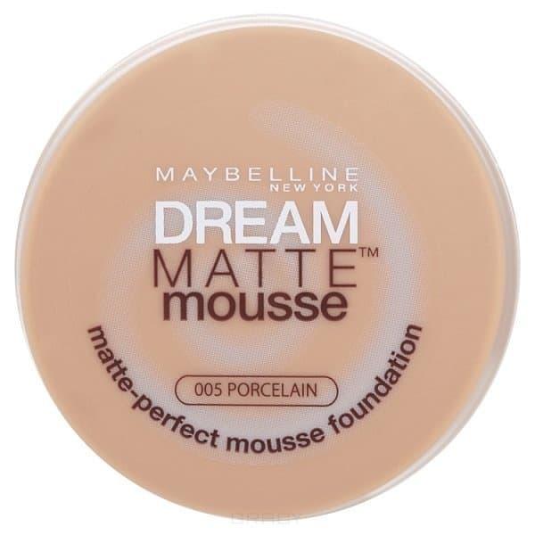 Maybelline, Тональный крем Dream Matte Mousse,18 мл (6 оттенков) 005 ФарфоровыйДля лица<br><br>