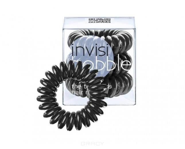 Invisibobble, Резинка для волос черная ORIGINAL True Black (3 шт.) invisibobble резинка для волос вишневого цвета original winter punch 3 шт резинка для волос вишневого цвета original winter punch 3 шт 3 шт уп
