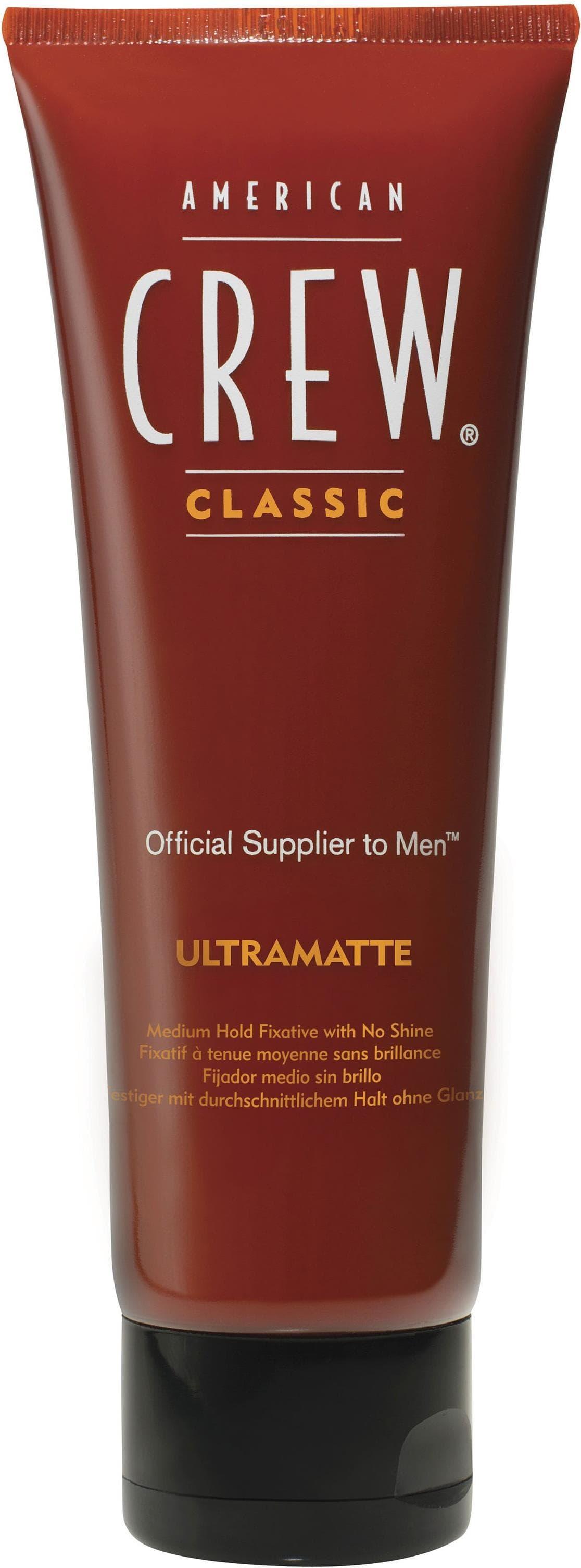 Гель для стайлинга Crew Classic Ultramatte, 100 млКрем-гель средней фиксации с матовым эффектом улучшает структуру волос и защищает его от вредного воздействия окружающей среды. Благодаря специальному составу с Пантенолом делает волосы более здоровыми и придает ему плотность. Позволяет создавать подвижную укладку без блеска. Хорошо уплотняет волосы.&#13;<br>&#13;<br>  &#13;<br>&#13;<br>&#13;<br>Тип волос: редкие, тонкие или склонные к жирности волосы.&#13;<br>&#13;<br>&#13;<br>  &#13;<br>&#13;<br>&#13;<br>Применение: нанесите крем на влажные волосы от корней до кончиков, сделайте укладку с помощью фена. Если необходимо, нанесите на сухие волосы для усиления матового эффекта.&#13;<br>&#13;<br>&#13;<br>  &#13;<br>&#13;<br>&#13;<br>Состав:&#13;<br>&#13;<br>Aqua (Water) (Eau), Acrylates Crosspolymer-3, Acrylates Copolymer, Silica,Triethanolamine, Panthenol, PEG-40 Hydrogenated Castor Oil, Sodium PCA, Hydrolyzed WheatProtein, Benzophenone-4, Parfum (Fragrance), Benzyl Salicylate, Limonene, Linalool, Butylphenyl Methylpropional, Hexyl Cinnamal, Alpha-Isomethyl Ionone, Hydroxyisohexyl-3-Cyclohexene Carboxaldehyde, Hydroxycitronellal, Geraniol, Phenoxyethanol, Methylis...<br>