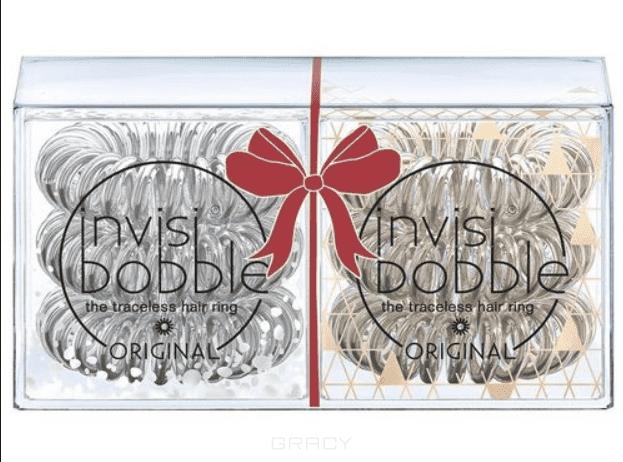 Invisibobble, Набор резинок для волос ORIGINAL Holiday Duo Pack серебряный/бронзовый, 2х3 шт набор резинок для волос migura цвет розовый 2 шт nobj0048