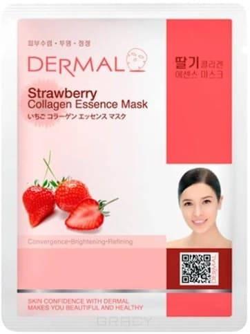 Dermal, Тканевая маска клубника и коллаген Strawberry Collagen Essence Mask, 23 мл фото