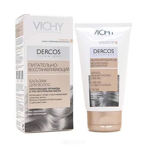 Бальзам питательно-восстанавливающий для сухих волос Dercos, 150 млПитает, восстанавливает структуру волос, разглаживает, придает блеск, облегчает расчесывание.<br>