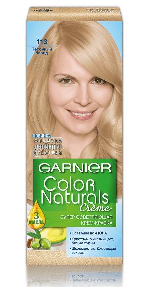 Garnier, Краска для волос Color Naturals (30 оттенков), 110 мл 113 Песочный блонд
