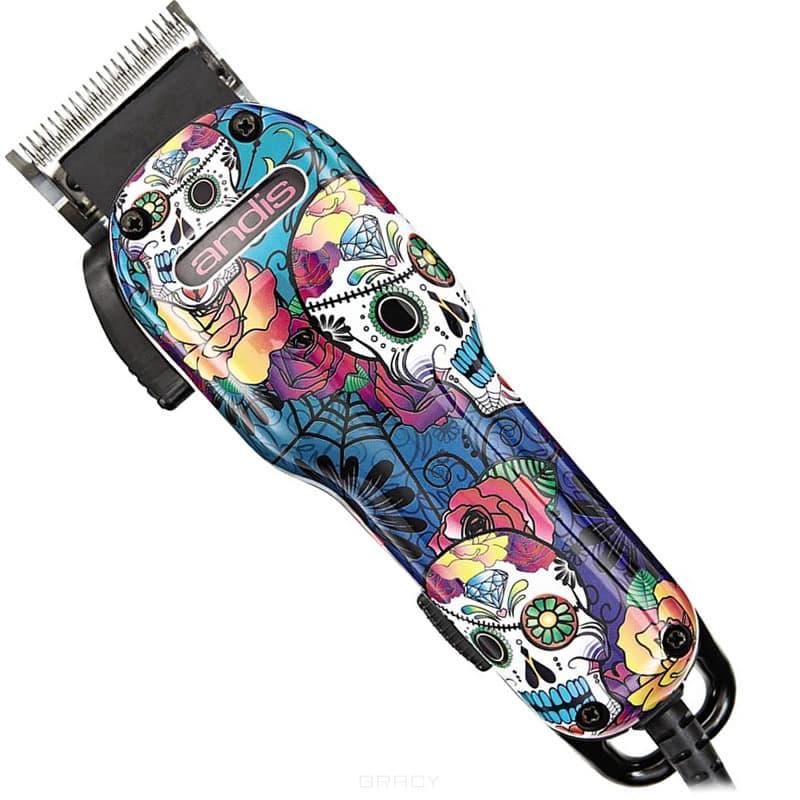 Andis, Вибрационная машинка для стрижки волос US-1 Sugar Skull Fade Intl 66545 andis триммер для стрижки волос andis t outliner 0 1 мм сетевой магнит 12 в 05105 g i