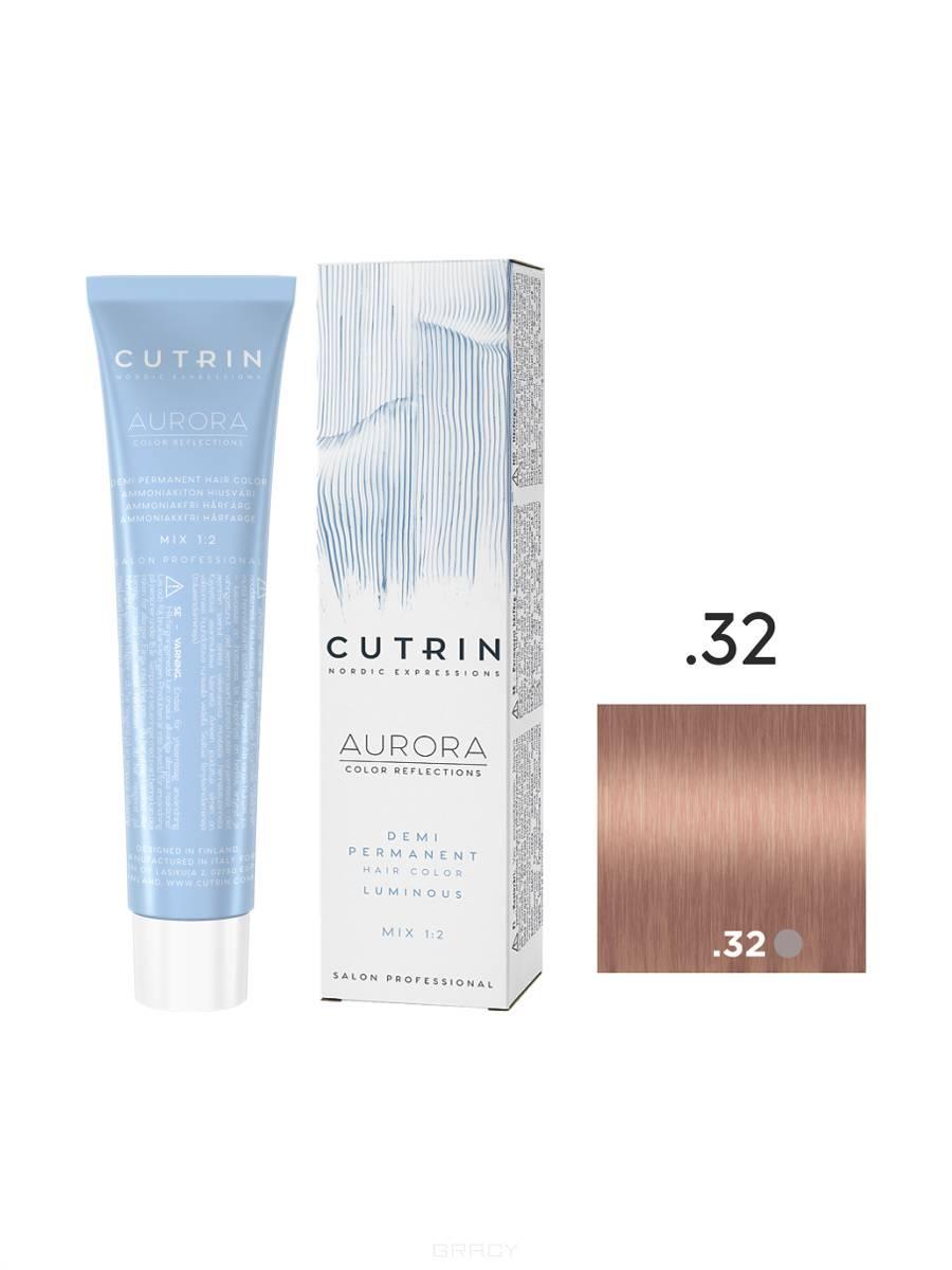 Купить Cutrin, Безаммиачная краска Aurora Demi (Новый дизайн Reflection Demi), 60 мл (55 оттенков) .32 Кремовая нуга