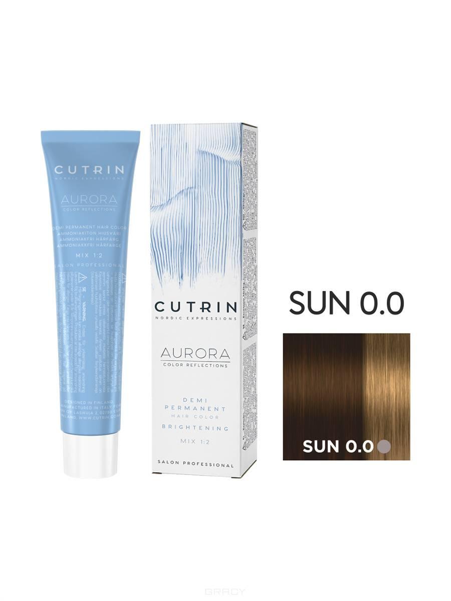 Cutrin, Безаммиачная краска Aurora Demi (Новый дизайн Reflection Demi), 60 мл (55 оттенков) SUN 0.0 Солнечный свет цена и фото