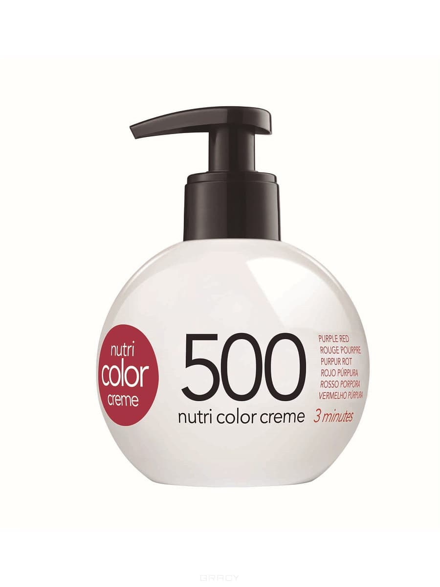 Revlon, Крем-краска 3 в 1 Nutri Color Creme, (29 оттенков) 500 Пурпурно красныйОкрашивание волос Revlonissimo Colorcosmetique, Hight Coverage, Nutri Color Creme и др.<br><br>