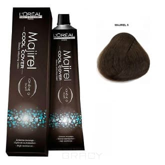 LOreal Professionnel, Краска для волос Majirel Cool Cover, 50 мл (33 оттенка) 5. светлый шатенОкрашивание<br><br>