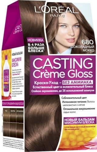 L'Oreal, Краска для волос Casting Creme Gloss (37 оттенков), 254 мл 680 Шоколадный мокко l oreal краска для волос casting creme gloss 37 оттенков 254 мл 8304 карамельный капучино
