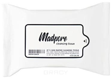It's Skin, Салфетки для очищения пор Мэд пор Mad Pore Cleansing Tissue 15ea, 15 шт artificial nail removing cleansing cotton paper tissue white