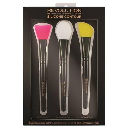 MakeUp Revolution, Набор силиконовых кистей для контурирования Silicone Contour Brush Set набор силиконовых кистей для контурирования silicone contour set makeup revolution аксессуары