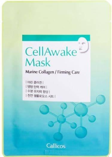 Callicos, Маска для лица с морским коллагеном, подтягивающая CellAwake Marine Collagen, 25 гр маска д лица ааша хербалс подтягивающая 5х10г
