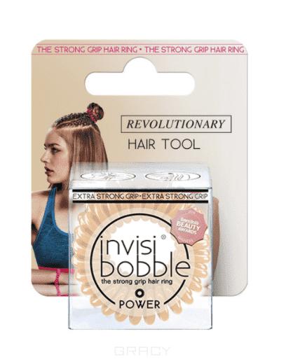 Invisibobble, Резинка для волос POWER To Be or Nude to Be бежевый в упаковке с подвесом, 3 шт.