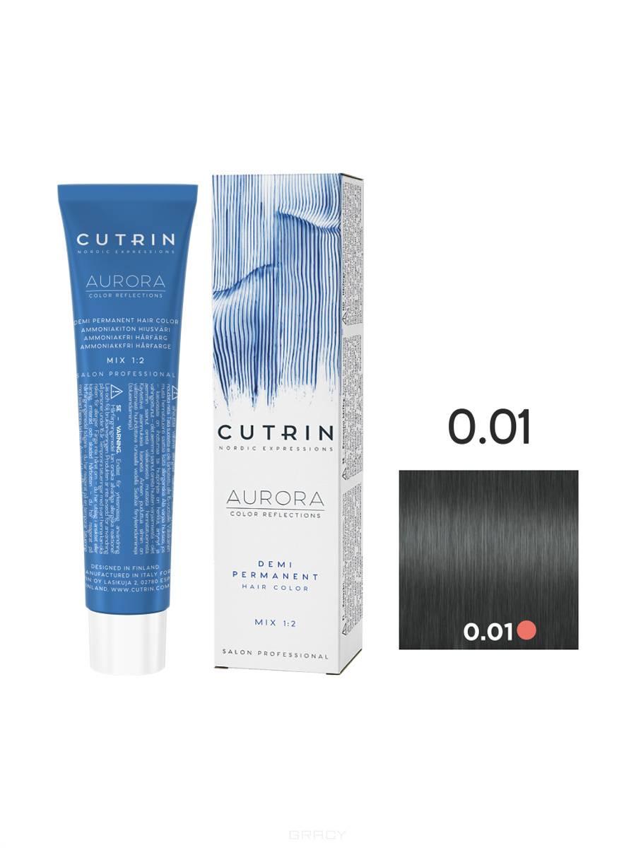 Купить Cutrin, Безаммиачная краска Aurora Demi (Новый дизайн Reflection Demi), 60 мл (55 оттенков) 0.01 Серебряная пыль