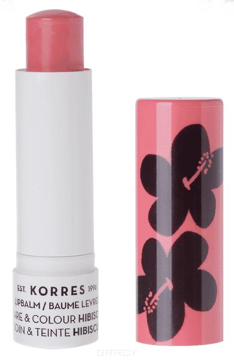 Korres, Бальзам-стик для губ уход и цвет Гибискус, 5 мл коррес бальзамстик для губ с экстрактом мандарина бесцветный spf 15 5 мл korres korres уход за губами