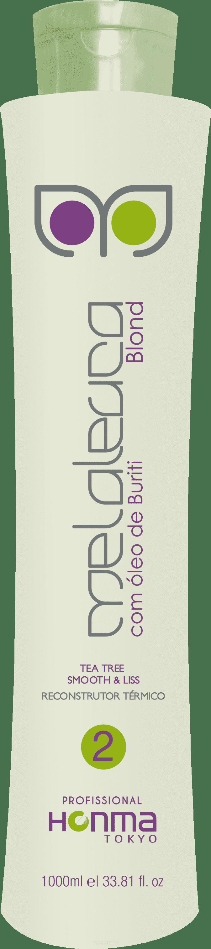 Honma Tokyo, Система мягкость и выпрямление Escova de Melaleuca Blond Шаг 2, 100 млGreenism - эко-серия для ухода<br><br>