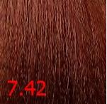 Купить Kaaral, Крем-краска для волос Baco Permament Haircolor, 100 мл (106 оттенков) 7.42 медно-фиолетовый блондин