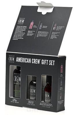 American Crew, Набор для лица и волос Crew, 100/50/50 мл