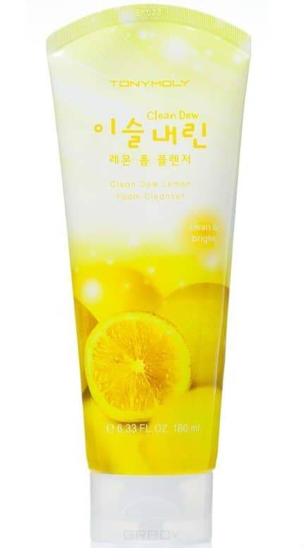 Tony Moly, Пенка для лица с экстрактом лимона Clean Dew Lemon Foam Cleanser, 180 млМуссы и пенки<br><br>
