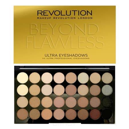 Купить MakeUp Revolution, Палетка теней для век Ultra 32 Shade Eyeshadow Palette, 32 оттенка (2 варианта), Beyond Flawless