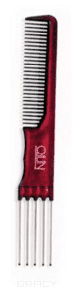 OLLIN Professional, Расческа для волос вилкообразная бордо