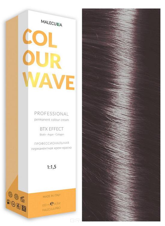 Купить Malecula, Профессиональная перманентная крем-краска Colour Wave, 100 мл (103 оттенка) 6.21 Ash Pearl Dark Blond/ Пепельно-Перламутровый Темный Блонд