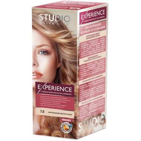 Studio, Краска для волос experience (8 оттенков), 40/60/15 мл 7.0 натуральный светло-русый