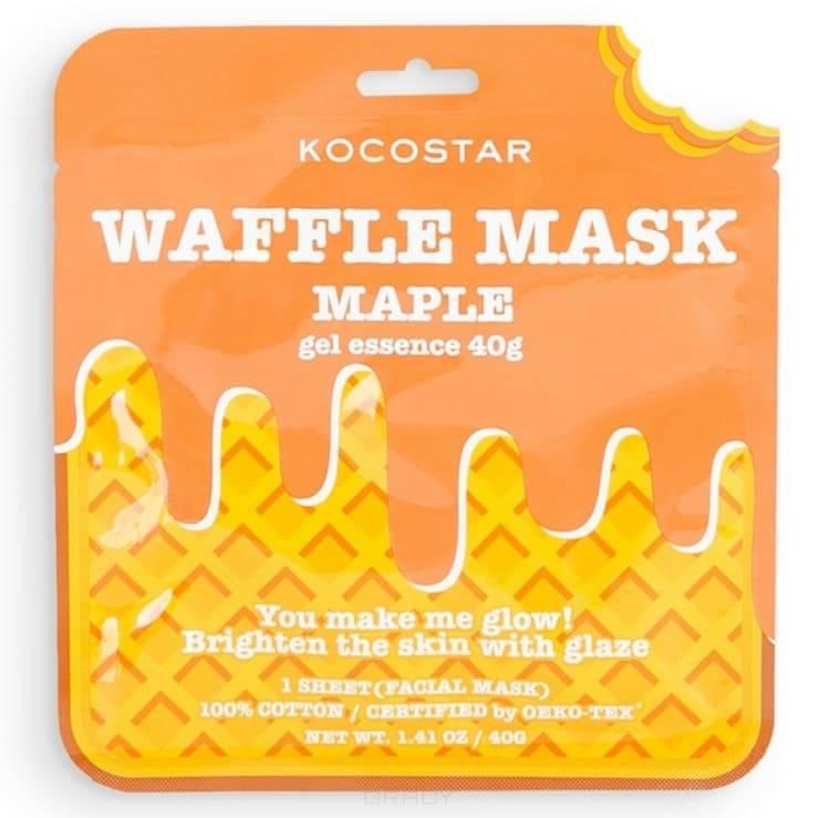 Kocostar, Омолаживающая вафельная маска для лица Кленовый сироп, 40 г фото
