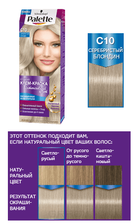 Schwarzkopf Professional, Краска для волос Palette Icc, 50 мл (40 оттенков) С10 Серебристый блондин schwarzkopf professional краска для волос palette icc 50 мл 40 оттенков c9 пепельный блондин