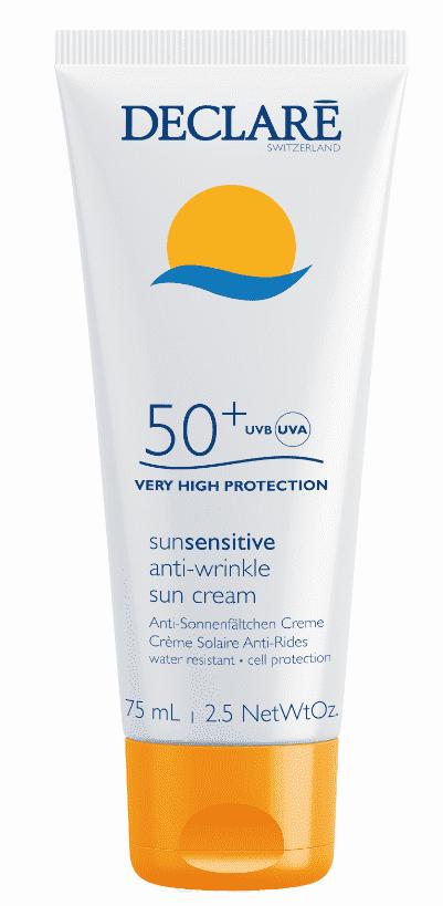 Declare, Солнцезащитный крем SPF 50+ с омолаживающим действием Anti-Wrinkle Sun Cream SPF 50+, 75 мл защита от солнца guam solare anti age spf 50 объем 100 мл