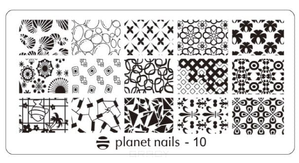 Planet Nails, Пластина для Stamping Nail Art (15 видов) Пластина для Stamping Nail Art - 10 portable stainless steel nail art manicure set nail care tools with nail cutter clipper file scissor eyebrow tweezers