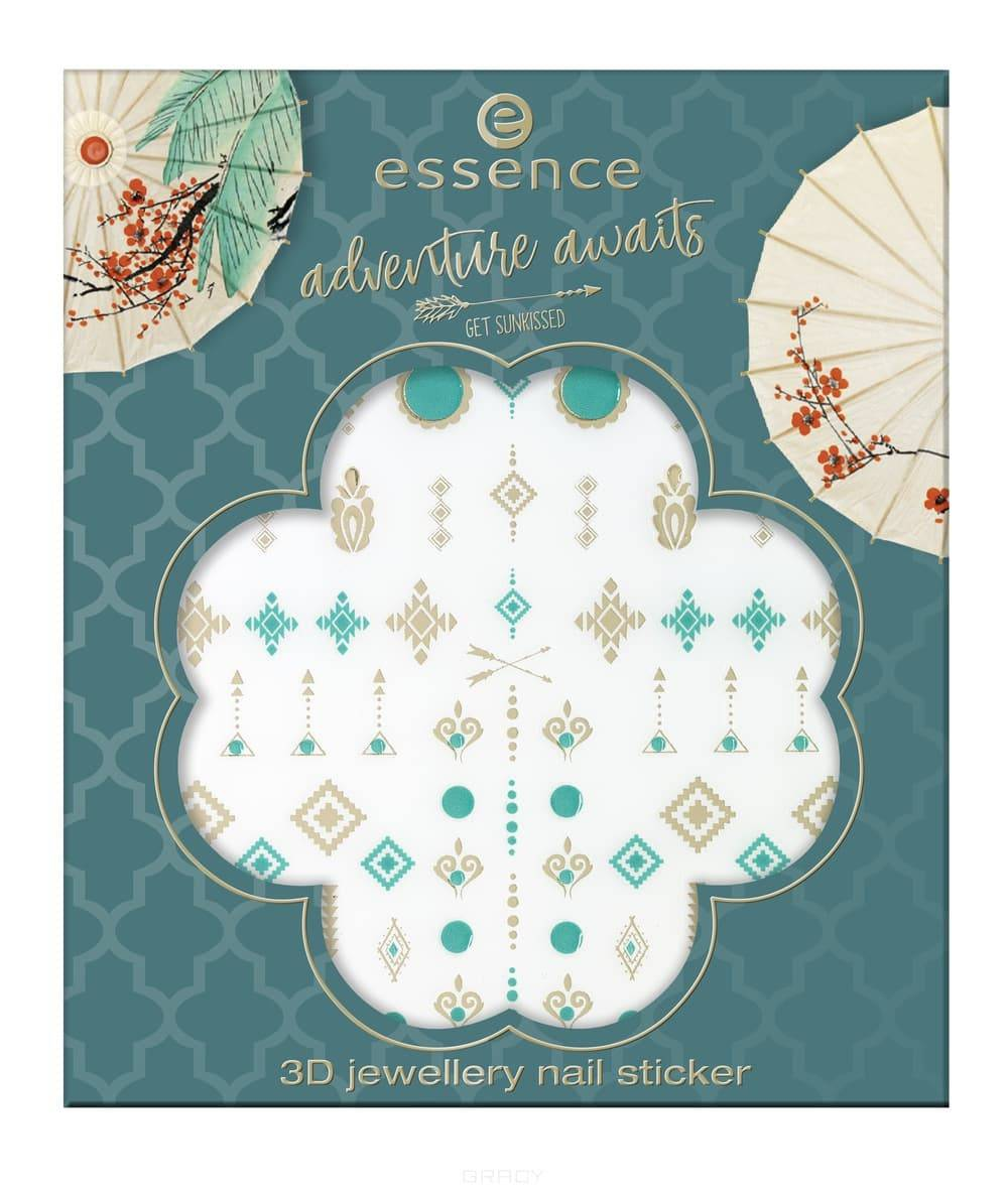 Essence, Стикеры для ногтей Adventure Awaits 3D Jewellery Nail Sticker