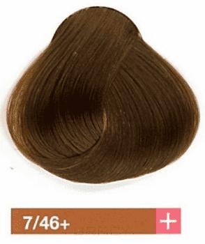 Купить Lakme, Перманентная крем-краска Collage, 60 мл (99 оттенков) 7/46+ Средний блондин интенсивный медно-коричневый