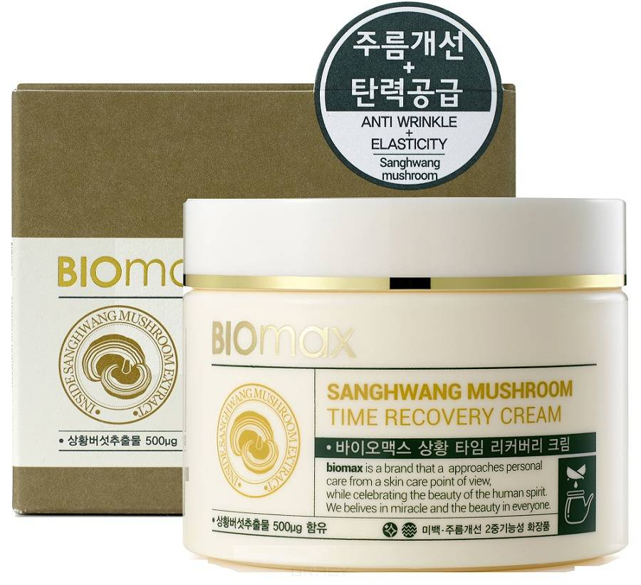 Купить Biomax, Крем для лица с экстрактом гриба санхван Sanghwang Mushroom Time Recovery Cream, 100 мл