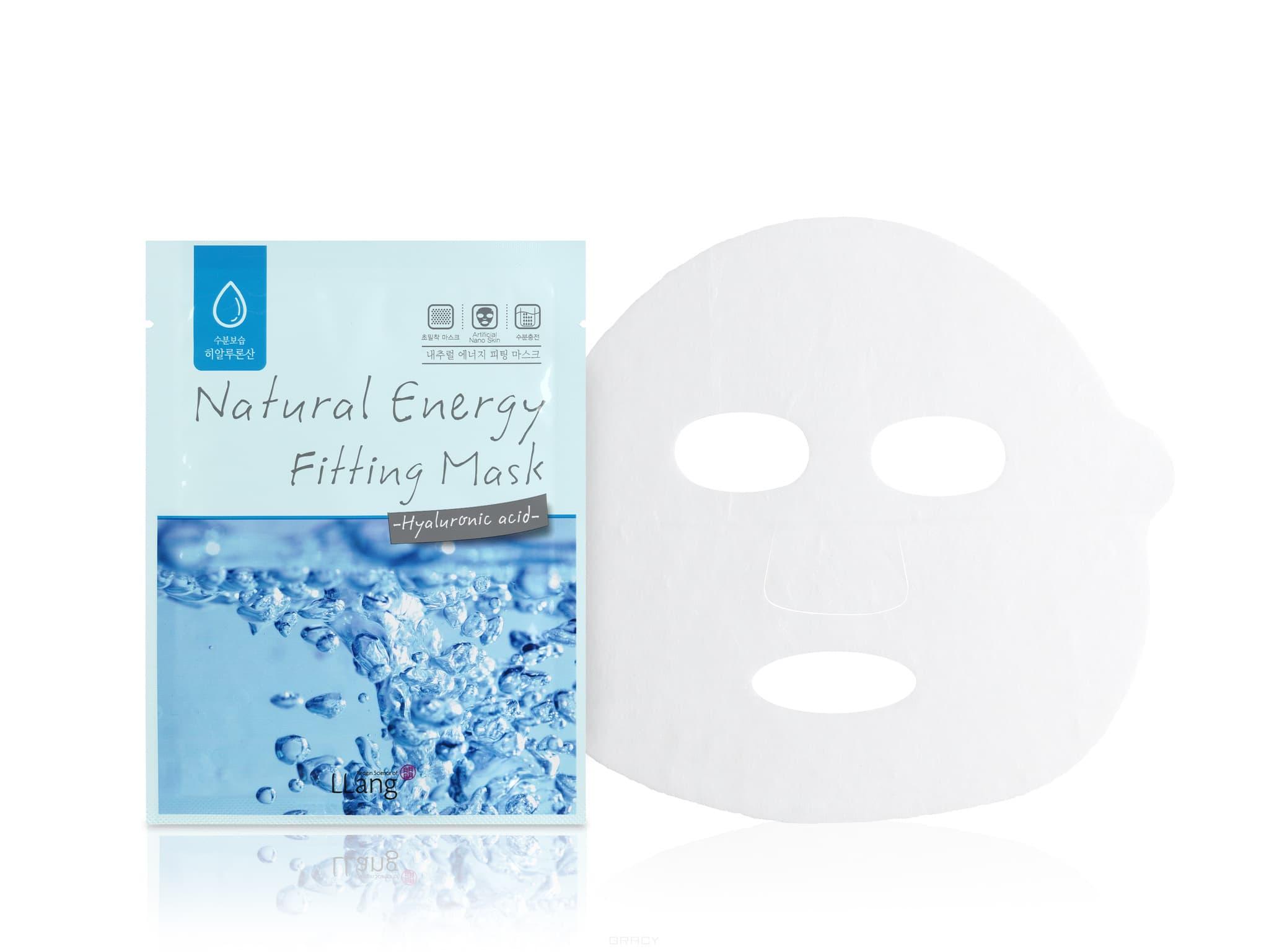 Тканевая маска с гиалуроновой кислотой Natural Energy Fitting Mask (Hyaluronic acid), 20 мл frudia blueberry hydrating natural maintains moisture увлажняющая тканевая маска для лица с экстрактом черники 27 мл