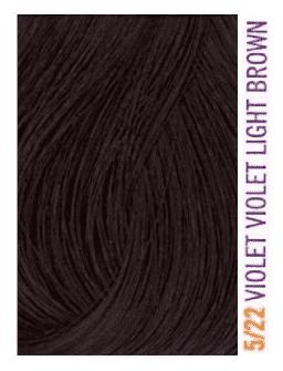 Купить Lakme, Крем-краска для волос тонирующая Gloss, 60 мл (54 оттенка) 5/22 Светло-каштановый фиолетовый яркий