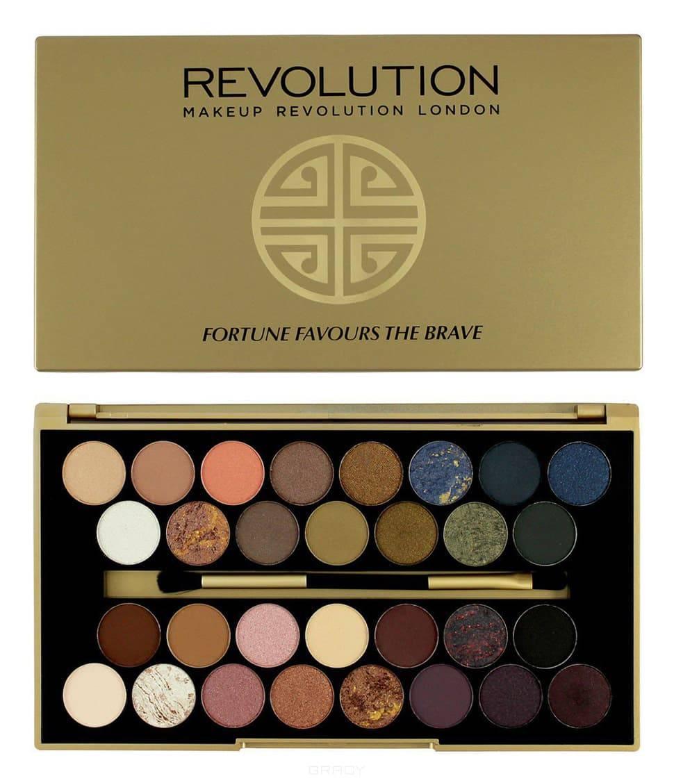 MakeUp Revolution, Палетка теней Eyeshadow Palette Fortune Favours The Brave, 15 гр makeup revolution набор из 30 теней 30 eyeshadow palette fortune favours the brave